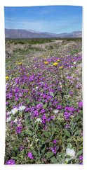 Hand Towel featuring the photograph Desert Super Bloom by Peter Tellone