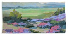 Bath Towel featuring the painting Desert Verbena 1 by Diane McClary