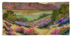 Desert Verbena At Borrego Springs Hand Towel by Diane McClary