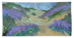 Bath Towel featuring the painting Desert Verbena by Diane McClary