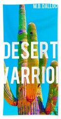 Desert Warrior Poster II Hand Towel