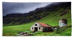 Deserted Barn In Iceland Hand Towel