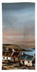 Deserted Village, Blasket Mor, Kerry Bath Towel