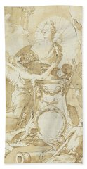 Design For Dedication Page To Charles IIi Of Spain And The Two Sicilies Bath Towel