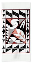 Southwest Collection - Design Four In Red Bath Towel