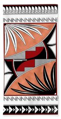Southwest Collection - Design Three In Red Bath Towel
