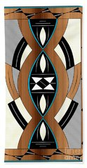 Southwest Collection - Design Two In Blue Hand Towel