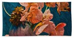 Designer Floral Arrangement Hand Towel