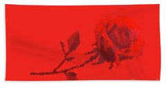 Bath Towel featuring the photograph Designer Red Rose by Linda Phelps