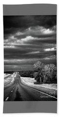 Desolate Highway Bath Towel