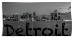 Detroit City  Hand Towel