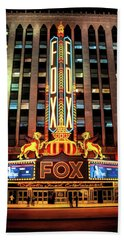 Detroit Fox Theatre Marquee Bath Towel