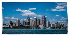 Detroit Skyline Bath Towel