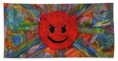 Devil Abtract Hand Towel