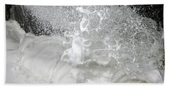 Bath Towel featuring the photograph Devils Churn Up Close by Holly Ethan