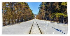 Hand Towel featuring the photograph Devil's Lake Railroad by Ricky L Jones