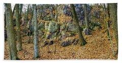 Devils Lake Rock Formation  Hand Towel