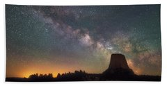 Bath Towel featuring the photograph Devils Night Watch by Darren White