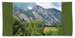 Bath Towel featuring the photograph Devil's Thumb Flatirons Colorado by Marilyn Hunt
