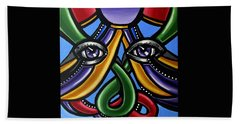 Colorful Contemporary Canvas Painting, Eyeball Artwork, Colorful Modern Art                       Hand Towel