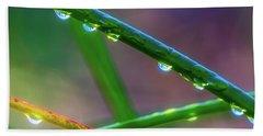 Dew Drops At Sunrise Bath Towel
