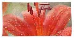 Dew Drops Shining In The Sun Hand Towel
