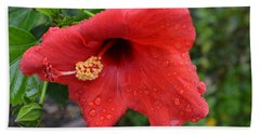 Dew On Flower Hand Towel