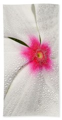 Dew-sprinkled Periwinkle Hand Towel