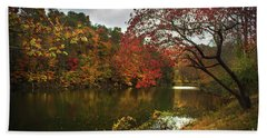 Dewey Lake In Autumn Hand Towel by Lena Auxier