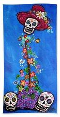 Dia De Los Muertos Bath Towel by Pristine Cartera Turkus