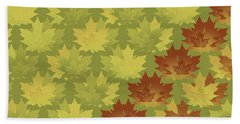 Hand Towel featuring the digital art Diagonal Leaf Pattern by Methune Hively