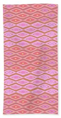 Diamond Bands Salmon Hand Towel