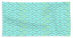 Diamond Eyes Pale Teal Hand Towel