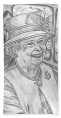 Bath Towel featuring the drawing Diamond Jubilee by Teresa White