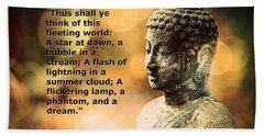 Diamond Sutra Quotation Art Hand Towel
