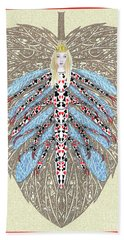 Hand Towel featuring the digital art Diamond Trump, The Insect Faerie by Lise Winne
