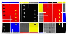 Diamonds And De Stijl Hand Towel