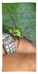 Diamonds Are A Dragonflies Best Friend Hand Towel