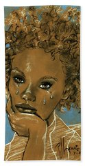 Bath Towel featuring the drawing Diamond's Daughter by P J Lewis
