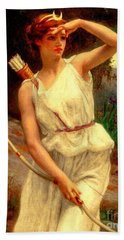 Diana The Huntress Guillaume Seignac  Bath Towel