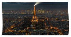 Didn't Know Paris Has A Skyline Bath Towel