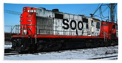 Diesel Locomotive Soo 416, Alco Rs27 Bath Towel by Wernher Krutein