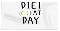 Diet Cheat Day- Art By Linda Woods Hand Towel