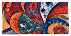 Digital Abstract 4 Hand Towel by Megan Walsh