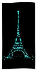 Digital-art Eiffel Tower Cyan Hand Towel