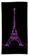 Digital-art Eiffel Tower Pink Hand Towel