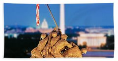 Digital Composite, Iwo Jima Memorial Hand Towel