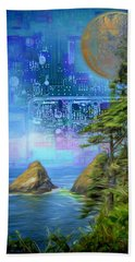 Digital Dream Bath Towel