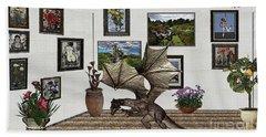 Digital Exhibition _ Dragon Hand Towel