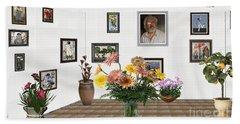 Digital Exhibition _ Flowers In A Vase Hand Towel